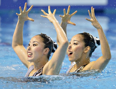 Yukiko Inui et Risako Mitsui (2 octobre) (Le Soleil, Pascal Ratthé)