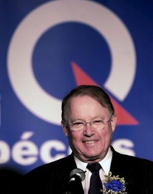 Bernard Landry annonce sa candidature à la direction du parti en 2001. (Achives Le Soleil)