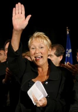 Pauline Marois se porte candidate à la chefferie en 2007. (Achives Le Soleil)