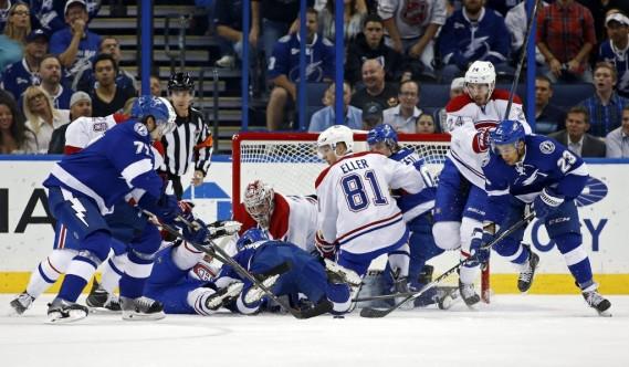 Le Canadien a subi une première défaite cette saison lundi soir à Tampa. (AP)