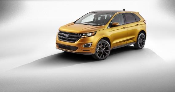 Ford Edge - À partir de 29 249 $ (prix de 2014) - Le multisegment de Ford est redessiné afin de lui donner les lignes des autres véhicules du constructeur. (Photo Ford)