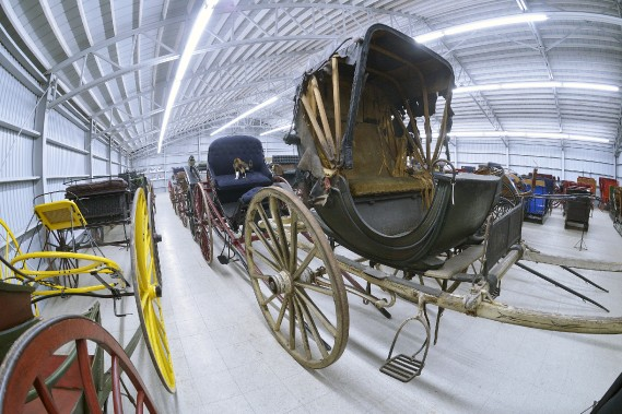 Des 213 voitures de la collection, 18 prendront le chemin de Québec pour l'exposition Tirée par les chevaux. (Le Soleil, Jean-Marie Villeneuve)