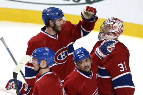 Le Canadien l'emporte 3-2. (PHOTO BERNARD BRAULT, LA PRESSE)
