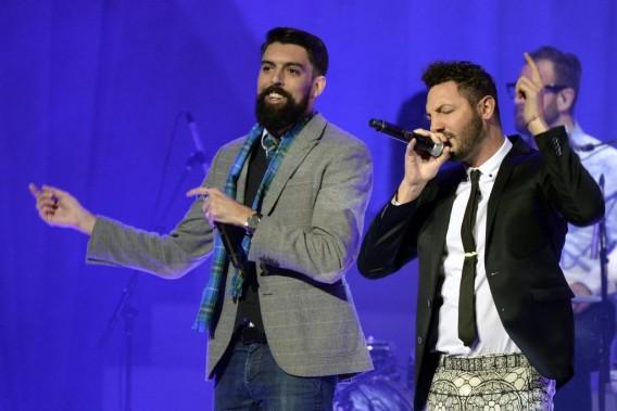 Radio Radio a offert une performance. Le duo est en nomination dans la catégorie groupe de l'année au Gala de l'ADISQ dimanche. (Photo: Bernard Brault, La Presse)