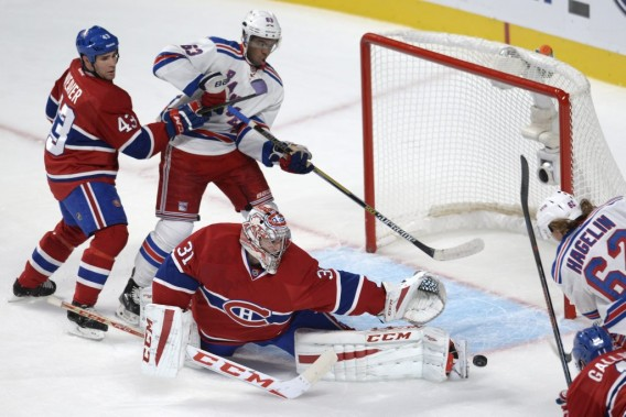 Carl Hagelin (62) déjoue Carey Price. (PHOTO BERNARD BRAULT, LA PRESSE)