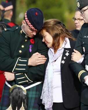 Kathy Cirillo, la mère de Nathan. (PHOTO MARK BLINCH, REUTERS)