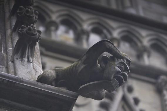 La cathédrale Nidarosdomen, à Trondheim, ne manque pas de gargouilles effrayantes. (Photo fournie par Innovation Norway)