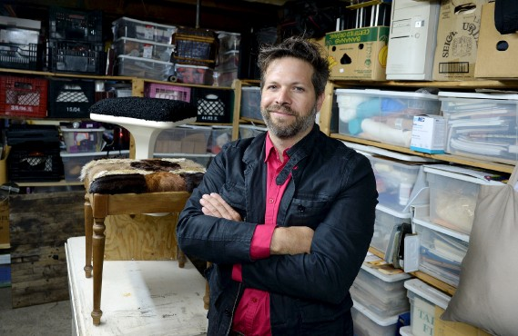 L'atelier de François Beauchemin sert d'espace d'entreposage pour ses nombreuses trouvailles ainsi que comme lieu de création. (Le Solei, Erick Labbé)