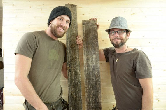 Les entrepreneurs Vincent Bouchard et Guillaume Ouellet (fournie par Espace-Bois)