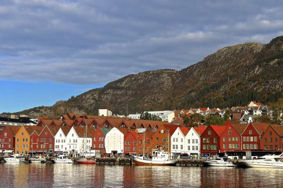 Les façades colorées du Vieux-Bergen. (Photo Jean-Christophe Laurence, La Presse)