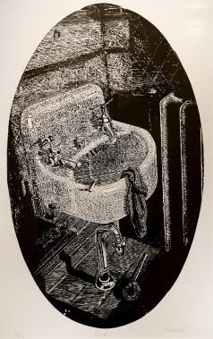 <em>Sink</em> (1972), gravure sur liinoléum (Le Soleil, Erick Labbé)