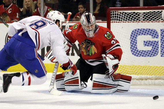 Prust s'effondre devant le but. (Photo AP)