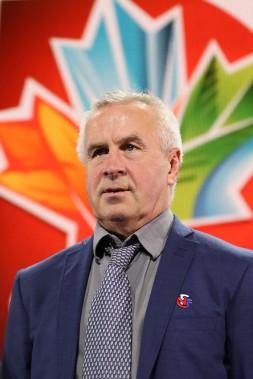 Even Pellerud, l'entraîneur de l'équipe de Norvege etancien entraîneur des troupes canadiennes. (Patrick Woodbury, LeDroit)