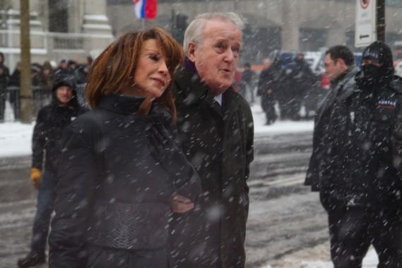 L'ancien premier ministre du Canada Brian Mulroney et son épouse Mila. (Photo David Boily, La Presse)
