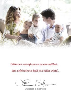 Justin Trudeau et sa famille. (La Presse Canadienne)