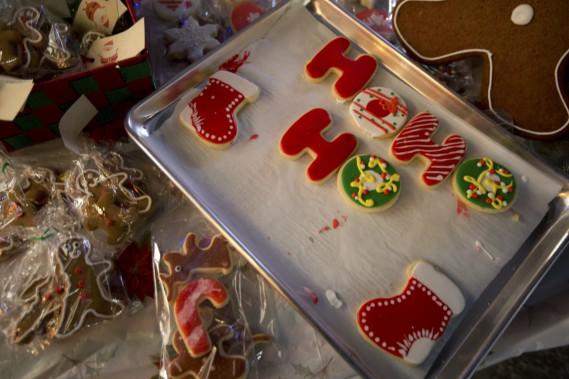 Difficile de résister aux biscuits colorés de Lily Lagalette. (Photo François Roy, La Presse)