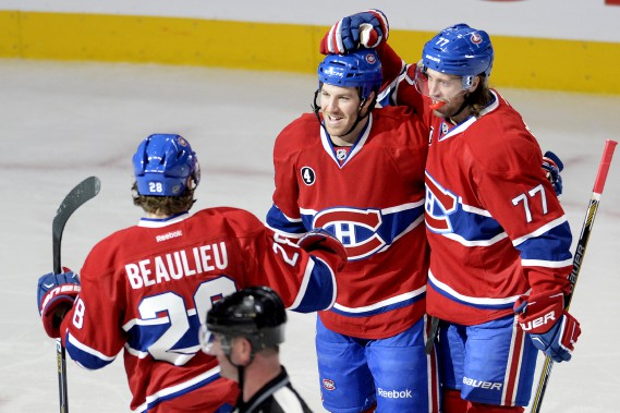 Brandon Prust a égalisé la marque à 1-1 en première période. (Photo Bernard Brault, La Presse)