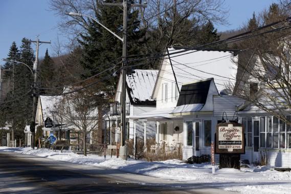La petite municipalité d'Eastman regorge de bonnes adresses, comme le café bistro Les Trois Grâces. (PHOTO FRANÇOIS ROY, LA PRESSE)