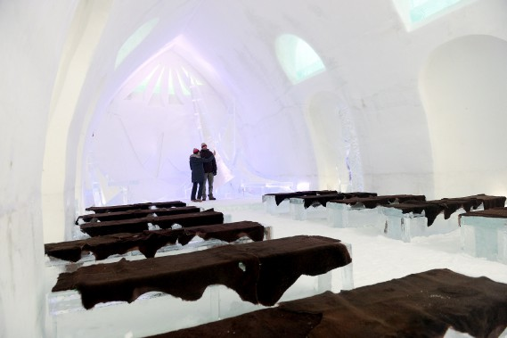 La chapellefait 24 pieds de haut et possède trois puits de lumière. (Le Soleil, Erick Labbé)