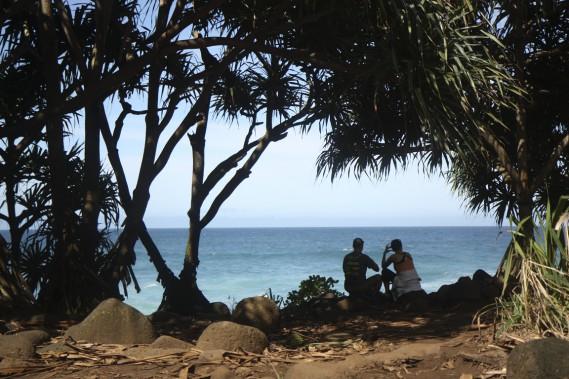 Le long de la randonnée de Kalalau, plusieurs points d'arrêt permettent de se ressourcer à même la mer. (Photo Sylvain Sarrazin, La Presse)