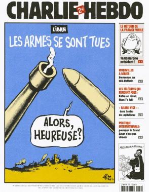 Caricature de Riss, août 2006 ()