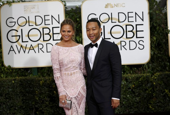 La mannequin Chrissy Teigen et chanteur John Legend (Photo MARIO ANZUONI, Reuters)