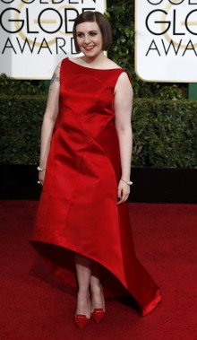Lena Dunham, de <em>Girls </em>porte Zac Posen<em></em> (Photo MARIO ANZUONI, Reuters)