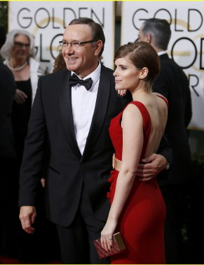 Les acteurs de <em>House of Cards</em>, Kevin Spacey et Kate Mara (Photo DANNY MOLOSHOK, Reuters)