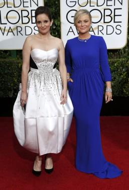 Les animatrices de la soirée Tina Fey et Amy Pohler (Photo MARIO ANZUONI, Reuters)
