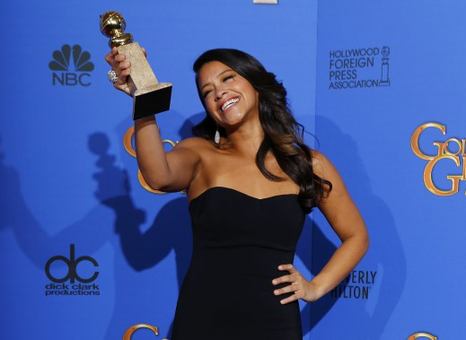 <strong>Meilleure actrice dans une série comique: </strong><em><em></em></em>Gina Rodriguez, <em>Jane the Virgin</em> (Photo MIKE BLAKE, Reuters)