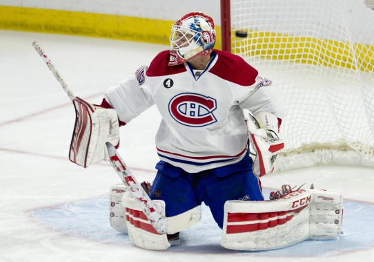 Tokarski a eu la lourde tâche de remplacer Carey Price pour ce match. (Photo La Presse Canadienne)