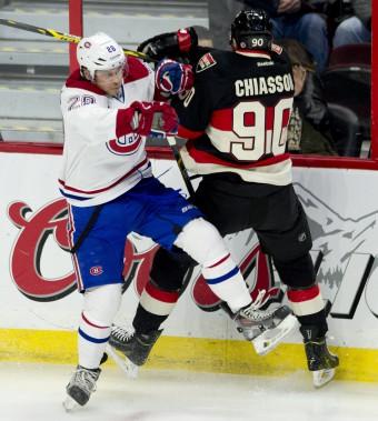 Beaulieu et Chiasson font connaissance. (Photo La Presse Canadienne)