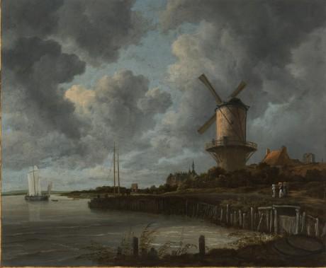 <em>Le moulin de Wijk près de Duurstede</em>, réalisé par Jacob Isaacksz van Ruisdael en 1668-1670, présente la Hollande traditionnelle, avec sa campagne verdoyante entourée d'eau, ici le Rhin. (PHOTO FOURNIE PAR LE MUSÉE)
