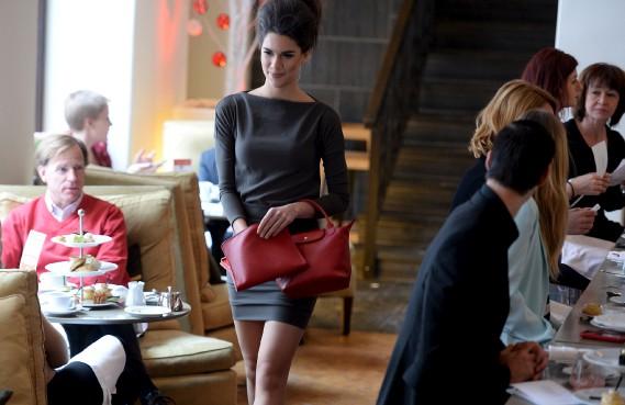 La boutique Bagages de France présente les nouveaux arrivages de la marque de maroquinerie Longchamp. (Le Soleil, Erick Labbé)