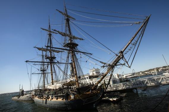 Le musée maritime de San Diego permet de visiter de grands voiliers d'époque. (Photo Martin Leblanc, La Presse)