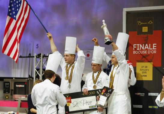 Pour la première fois en 14 ans, les États-Unis sont finalement montés sur le podium aux Olympiques de la gastronomie à Lyon. (Photo ROBERT PRATTA, AFP)