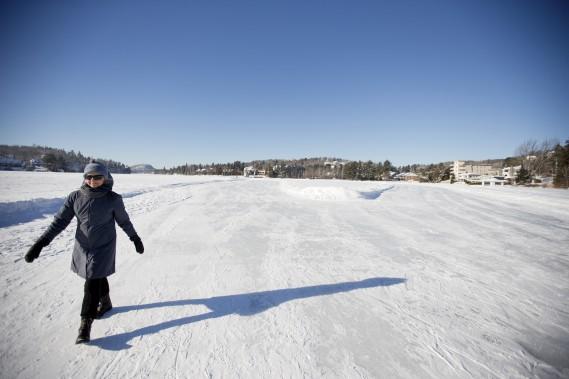 Le lac des Sables, au coeur de Sainte-Agathe. (PHOTO MARCO CAMPANOZZI. LA PRESSE)