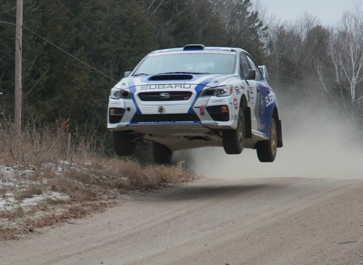La Subaru Impreza WRX STi 2015 que pilotera cette saison Antoine L'Estage. (Photo Phil Ericksen/Radikal Videos, fournie par Subaru Canada)