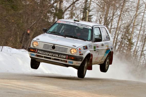 Simon Dubé, champion en 2014 en catégorie deux roues motrices, n'est malheureusement pas inscrit en 2015 au Rallye Perce-Neige. (Photo Mat Janiak/CARSrally.ca)