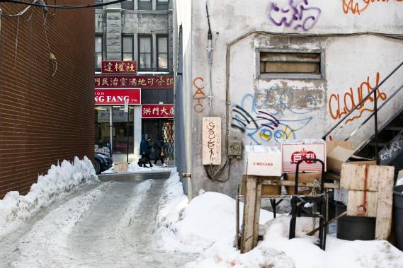 Le Quartier chinois de Montréal, situé sur le boulevard Saint-Laurent, est particulièrement touché par le nombre de locaux inoccupés. (PHOTO MARTIN TREMBLAY, LA PRESSE)
