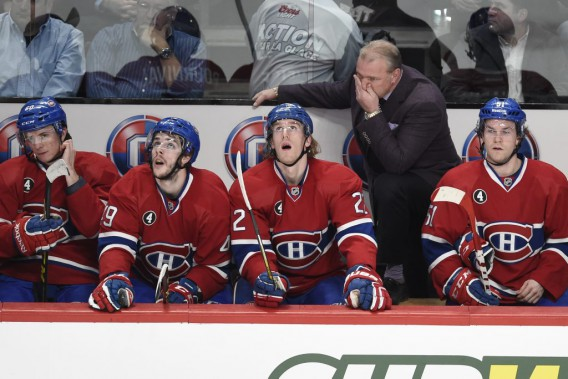 Michel Therrien en 2e période. (PHOTO BERNARD BRAULT, LA PRESSE)