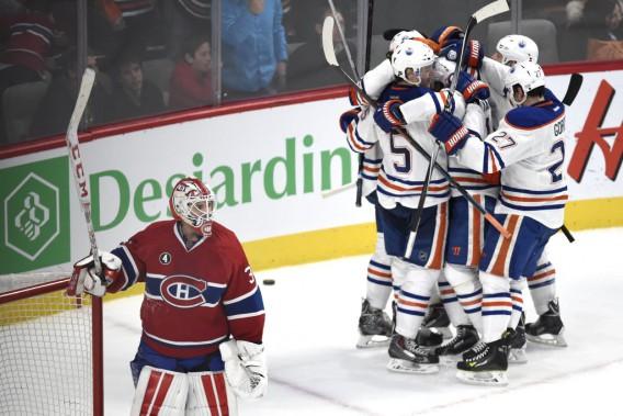 Dustin Tokarski après un but marqué par les Oilers. (PHOTO BERNARD BRAULT, LA PRESSE)