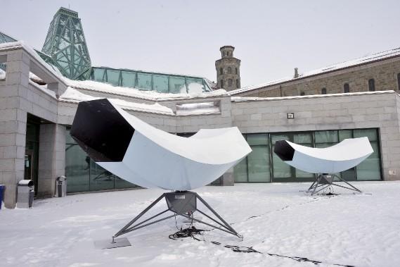 <em>Eotone</em> d'Herman Kolgen et David Letellier,Musée national des beaux-art du Québec (Photo Le Soleil, Jean-Marie Villeneuve)