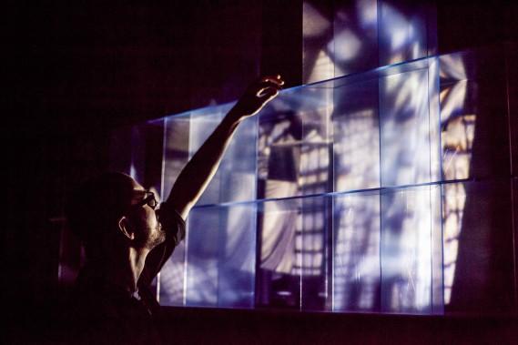 <em>Blur rouge carmin</em>, de Manuel Chantre, Salle multi (Photo Sébastien Roy)