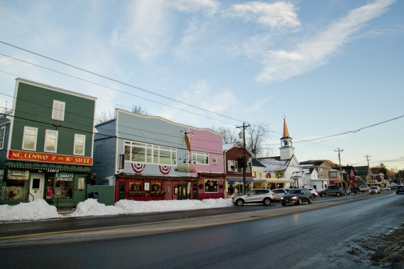 La rue principale de North Conway. (Photo David Boily, La Presse)