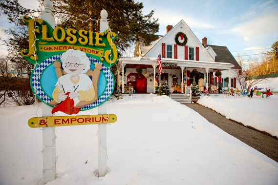Flossie's General Store, situé juste à côté du pont couvert, mais cette maison hétéroclite a suffisamment piqué notre curiosité pour que l'on souhaite y retourner. (Photo David Boily, La Presse)
