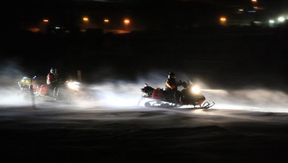 Entre les quelques points de passage où une période de repos est obligatoire, les concurrents roulent jour et nuit. (Photo fournie par L'Aventure de Caïn)