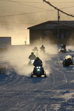 Arrivée au petit matin au point de passage du Rigolet, au nord-est de Goose Bay, sur la côte du Labrador. (Photo fournie par L'Aventure de Caïn)