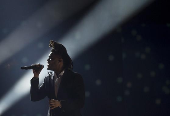 The Weeknd (artiste de l'année) durant la soirée des Juno. (La Presse Canadienne)