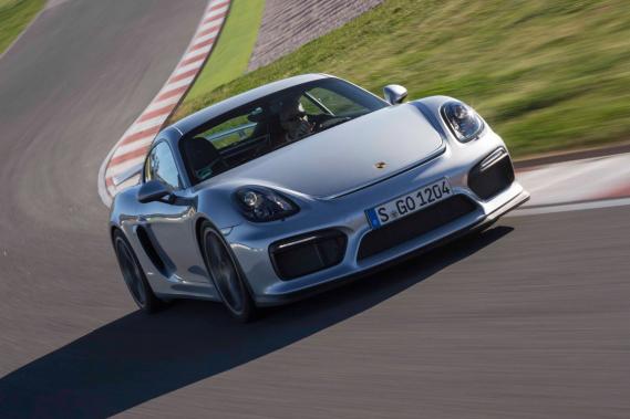 La Porsche Cayman GT4 (Photo fournie par le constructeur)